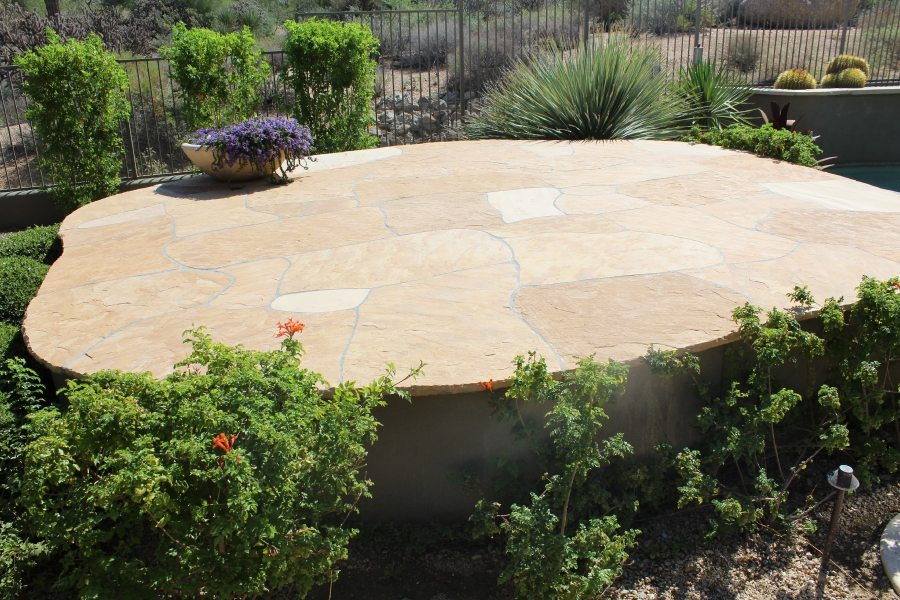After: Flagstone patio cleaned and two part sealing | Flagstone | Interiors | Photo Gallery | Baker's Travertine Power Clean