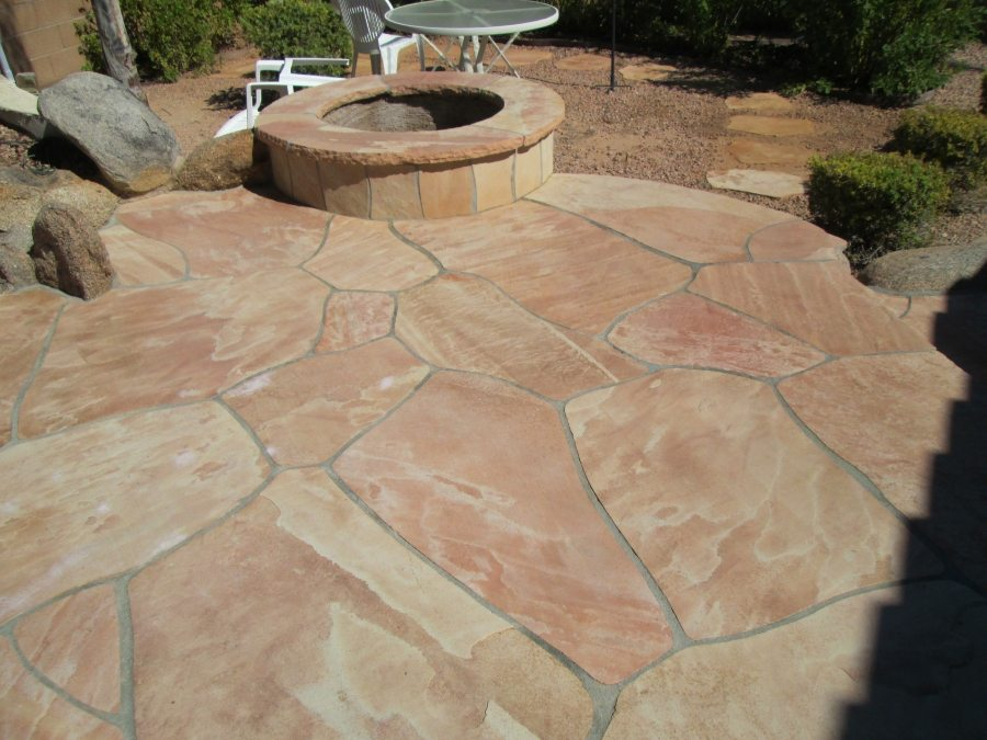 flagstone exterior patios gallery baker 39 s travertine power clean polishing sealing 1 in