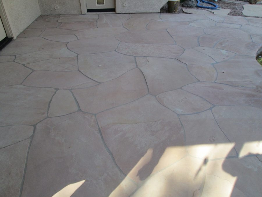 Before: Flagstone patio | Flagstone Exterior | Photo Gallery | Baker's Travertine Power Clean