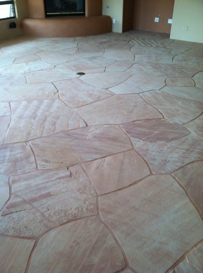 After: clean flagstone | Flagstone | Interiors | Photo Gallery | Baker's Travertine Power Clean