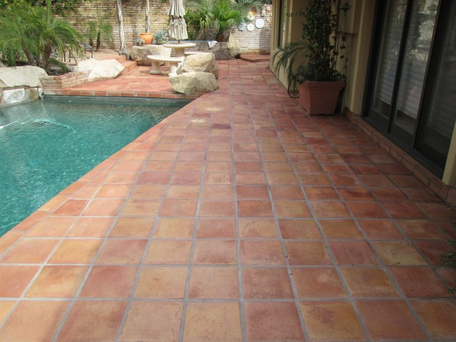 After: Saltillo patio Paradise Valley | Saltillo Exterior Patios | Photo Gallery | Baker's Travertine Power Clean