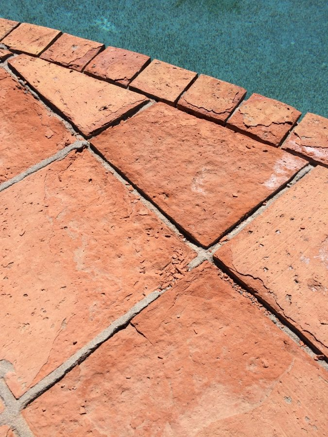 Saltillo tiles eroding | Saltillo Exterior Patios | Photo Gallery | Baker's Travertine Power Clean