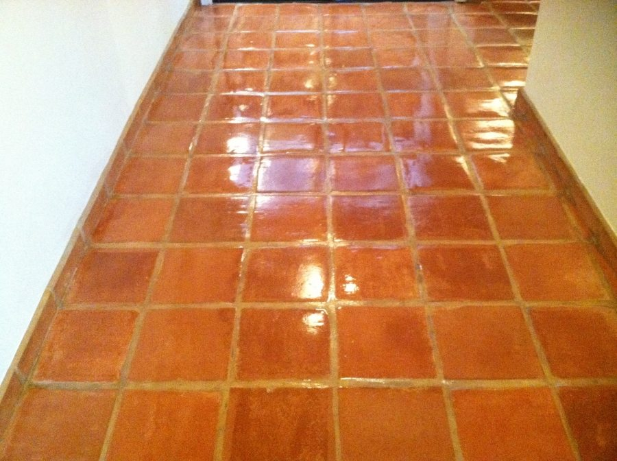 After: Saltillo hallway Chandler | Saltillo Interior | Photo Gallery | Baker's Travertine Power Clean