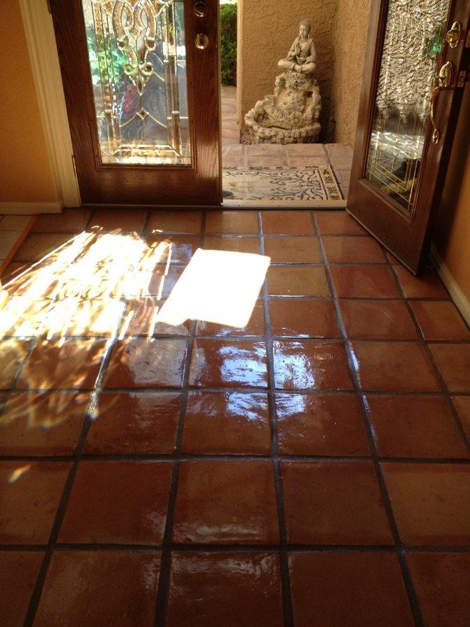 After: Saltillo entry Phoenix Biltmore area | Saltillo Interior | Photo Gallery | Baker's Travertine Power Clean