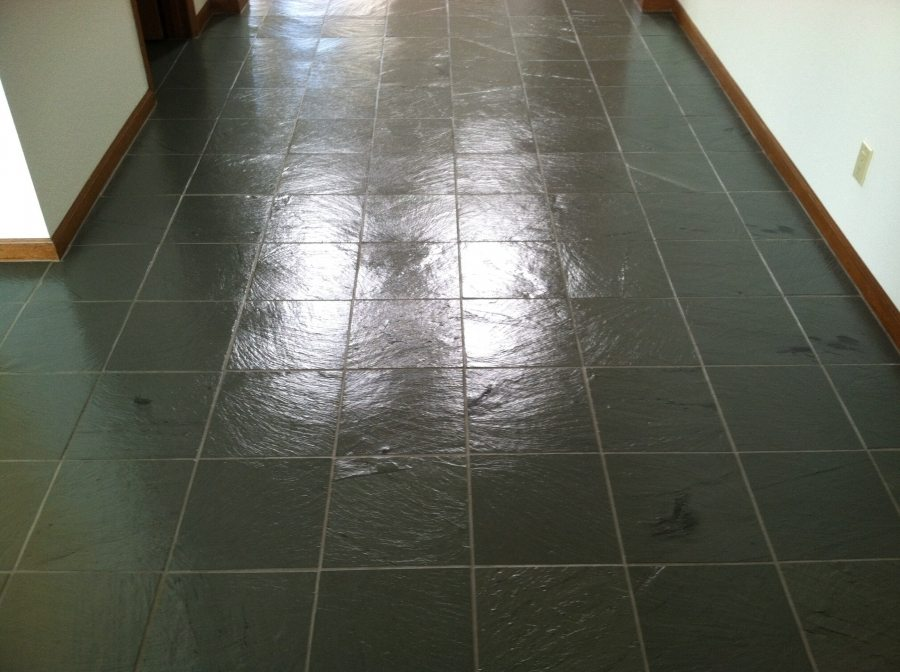 After: Slate hallway in Mesa | Slate | Interior | Photo Gallery | Baker's Travertine Power Clean