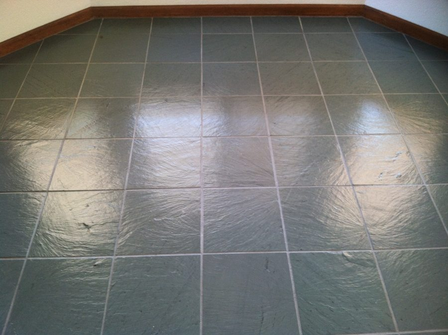 After: Slate tile in Scottsdale | Slate | Interior | Photo Gallery | Baker's Travertine Power Clean