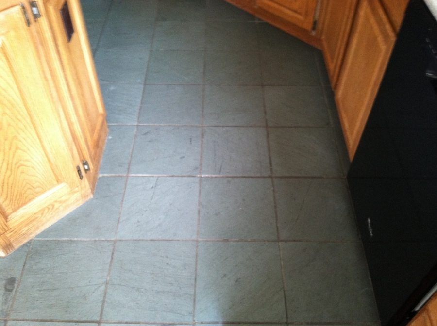 Dirty slate kitchen in Scottsdale home | Slate | Interior | Photo Gallery | Baker's Travertine Power Clean