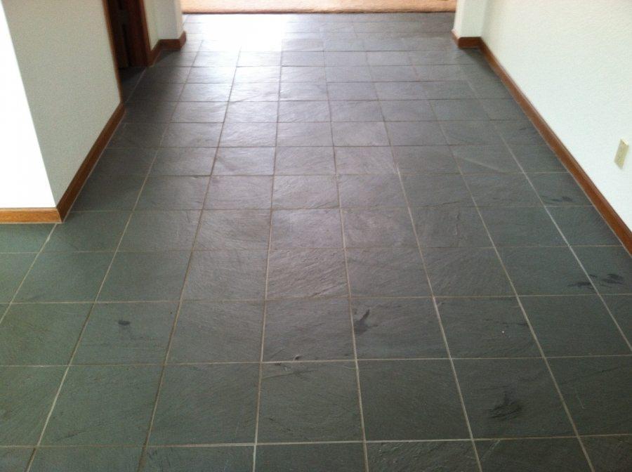 Before: Slate hallway in Mesa | Slate | Interior | Photo Gallery | Baker's Travertine Power Clean