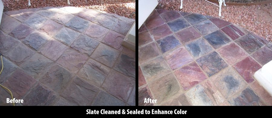 Slate patio in Scottsdale | Slate | Exterior Patios | Photo Gallery | Baker's Travertine Power Clean