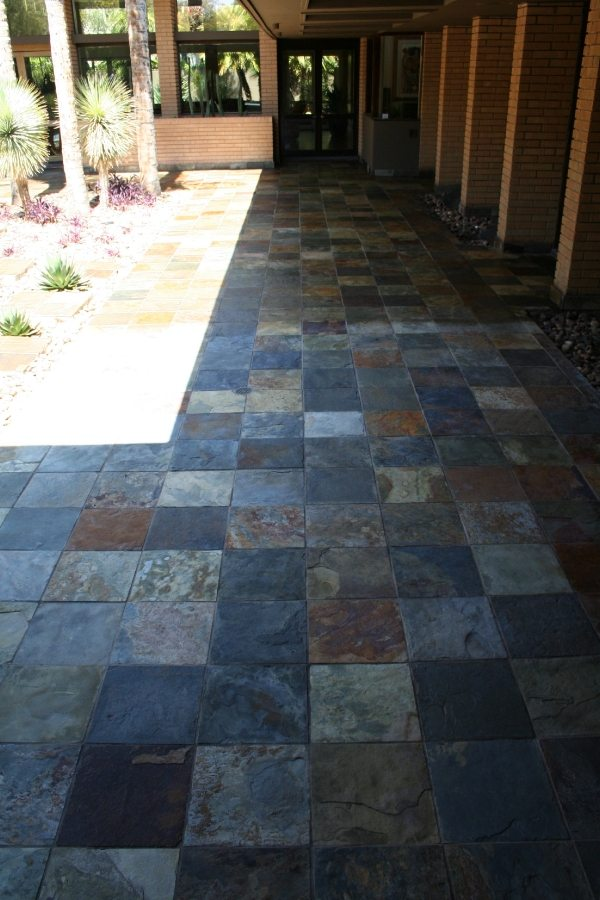 After: Slate patio in Paradise Valley | Slate | Exterior Patios | Photo Gallery | Baker's Travertine Power Clean