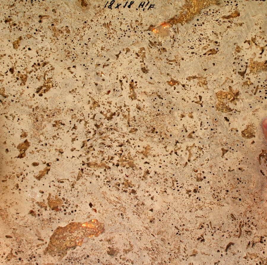 Air pockets on underside of travertine tile | Grade Quality Travertine Gallery | Travertine | Baker's Travertine Power Clean