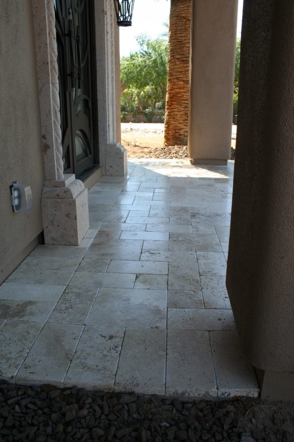 After: Travertine paver patio | Patios, Pools & Decking | Travertine | Baker's Travertine Power Clean