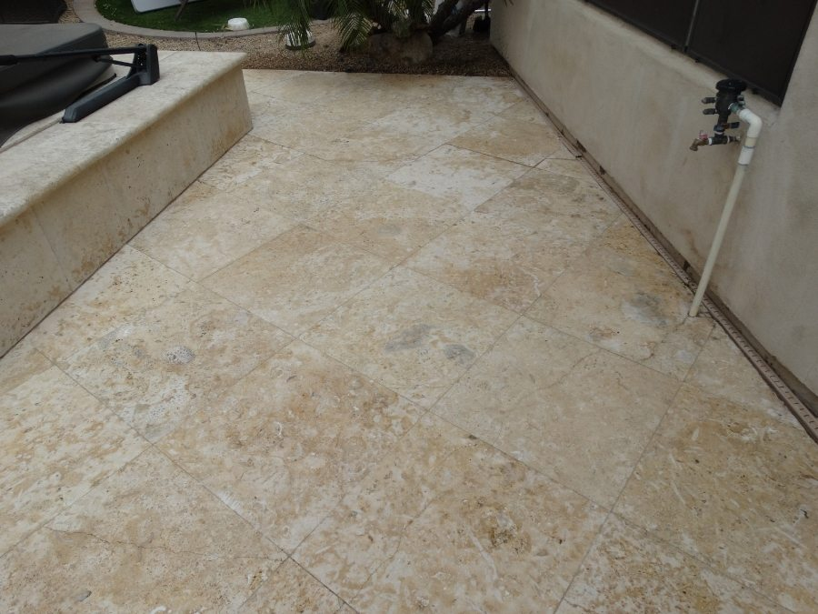Travertine shell stone patio pavers | Patios, Pools & Decking | Travertine | Baker's Travertine Power Clean