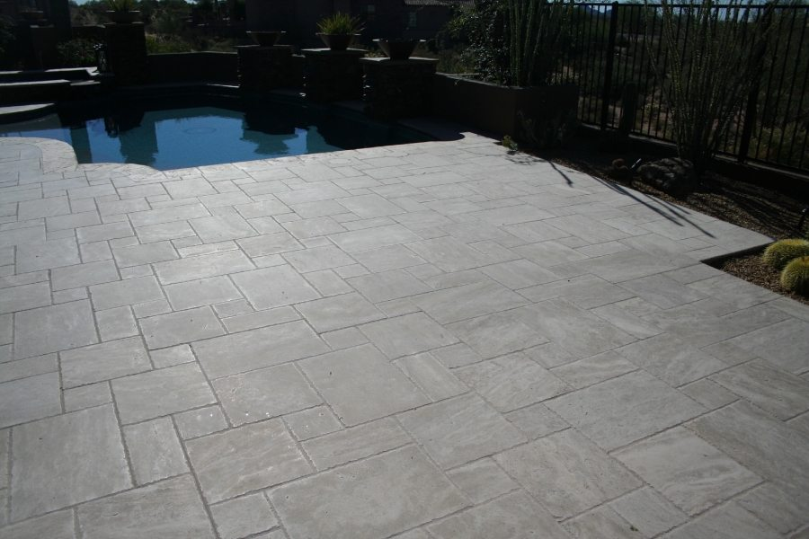 Before: Travertine patio | Patios, Pools & Decking | Travertine | Baker's Travertine Power Clean