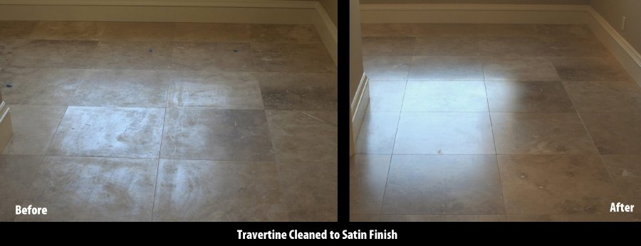 Travertine Satin Finish | Satin Finish Gallery | Travertine | Baker's Travertine Power Clean