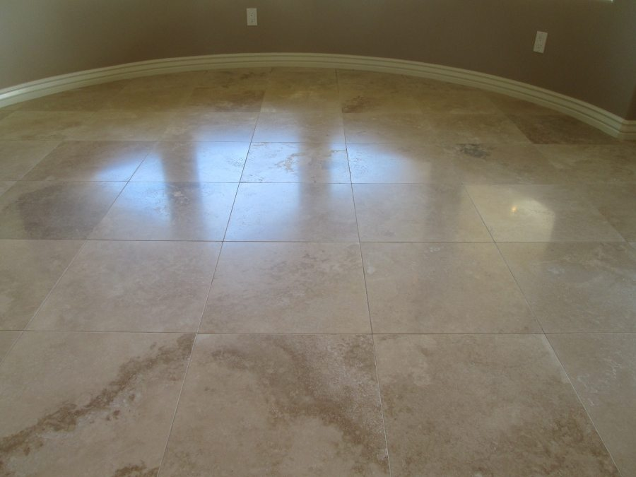 After: Travertine Satin Finish | Satin Finish Gallery | Travertine | Baker's Travertine Power Clean