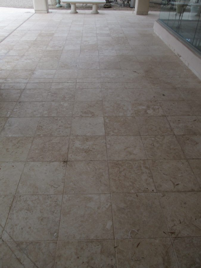 Before: Cantera patio Scottsdale | Cantera Exterior | Photo Gallery | Baker's Travertine Power Clean