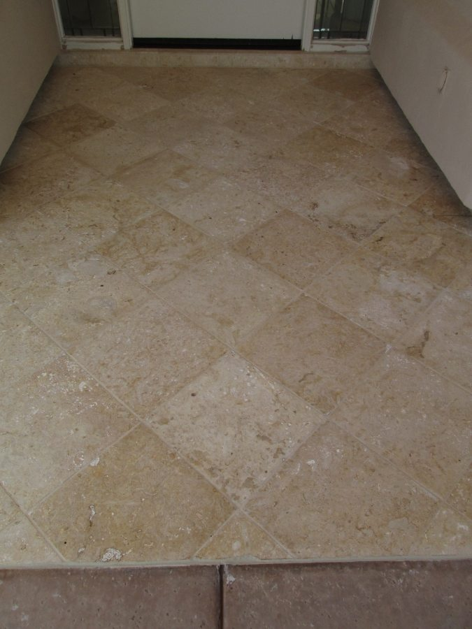 After: Cantera entry way Paradise Valley | Cantera Exterior | Photo Gallery | Baker's Travertine Power Clean