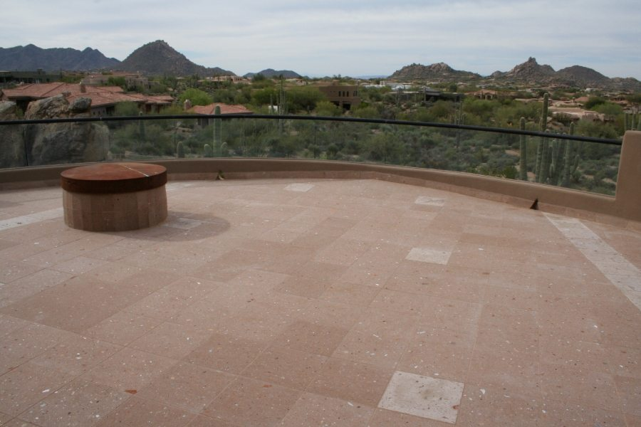 After: Cantera balcony | Cantera Exterior | Photo Gallery | Baker's Travertine Power Clean