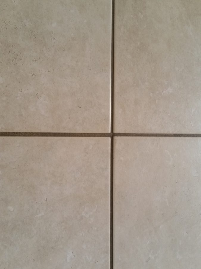 Colored Grout And New Tile Create Fresh Bathroom Look: Travertine Grout Color &PI67