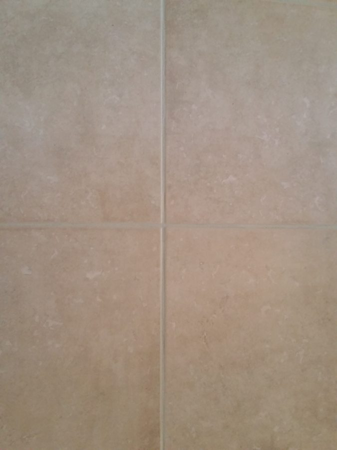 After: Grout lines disappear when color sealed in Scottsdale | Ceramic & Porcelain | Photo Gallery | Baker's Travertine Power Clean