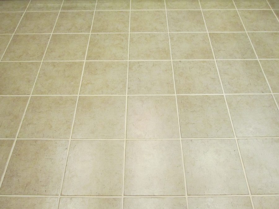 After: Grout lines disappear when color sealed | Ceramic & Porcelain | Photo Gallery | Baker's Travertine Power Clean