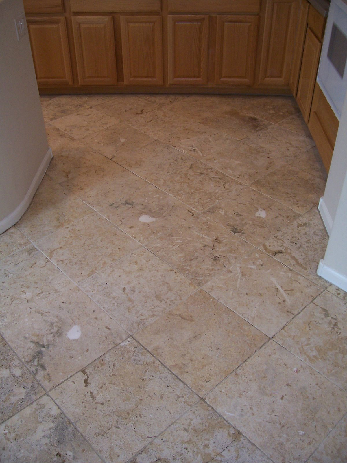After: Clean travertine revealed | Cleaning Process | Photo Galleries | Baker's Travertine Power Clean