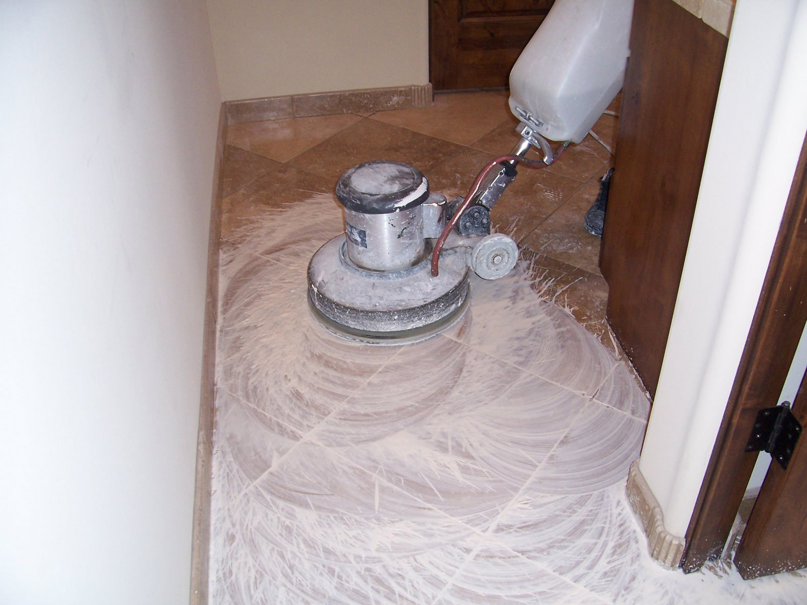 Cleaning Process | Photo Galleries | Baker's Travertine Power Clean