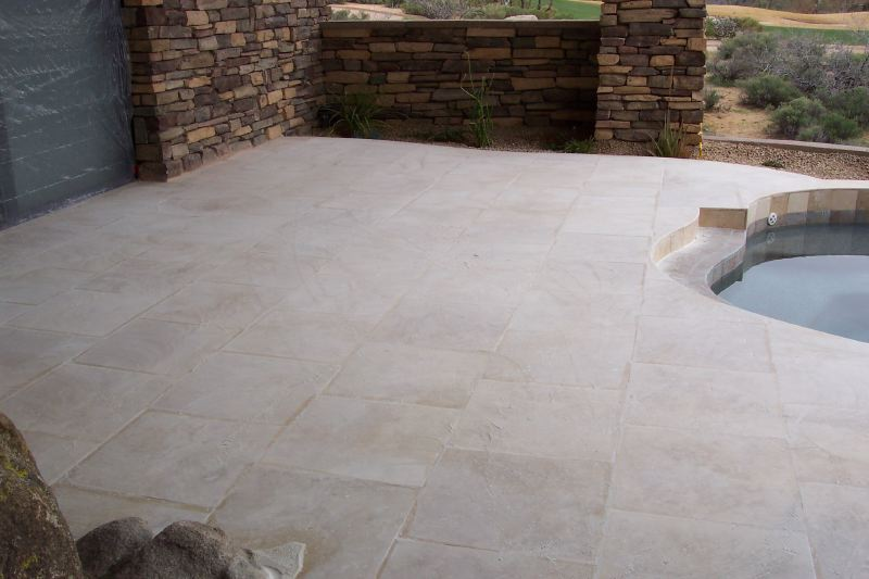 This is during our process. | Grinding & Lippage | Travertine | Baker's Travertine Power Clean