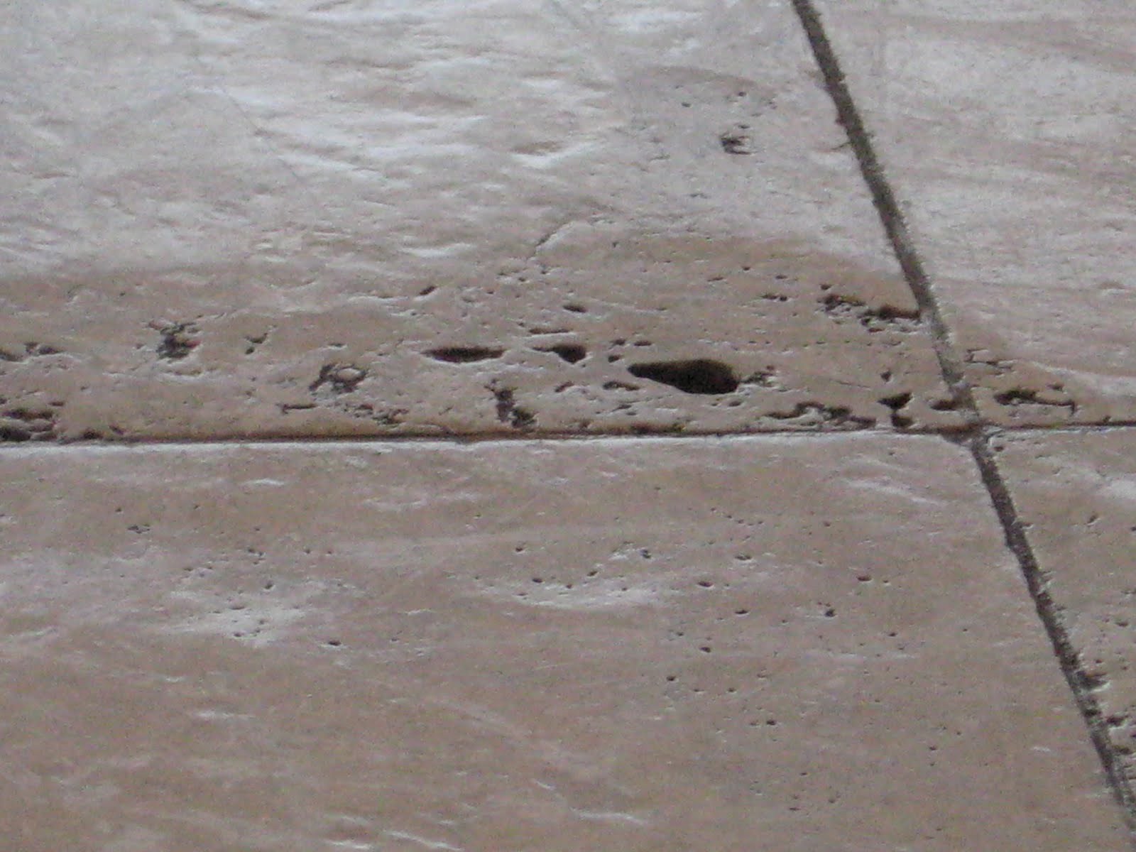 This was grinding overkill | Grinding & Lippage | Travertine | Baker's Travertine Power Clean