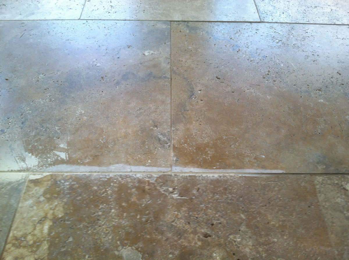 Ground Down Edge that was never finished | Grinding & Lippage | Travertine | Baker's Travertine Power Clean