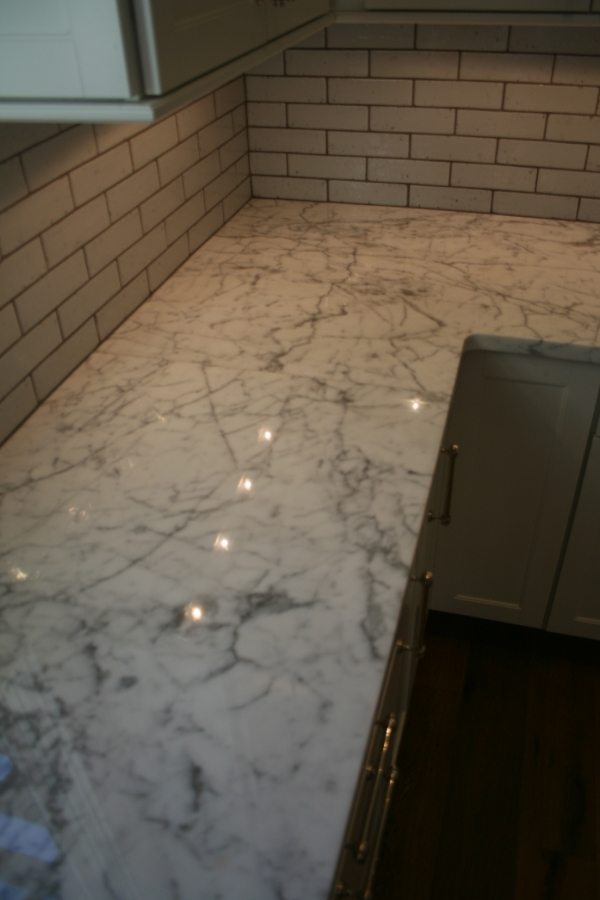 After: Marble vanity/counter | Marble | Interiors | Photo Gallery | Baker's Travertine Power Clean