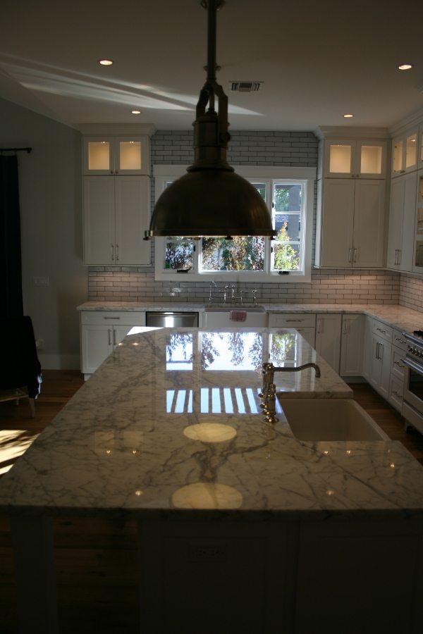 Marble Kitchen Island | Marble | Interiors | Photo Gallery | Baker's Travertine Power Clean