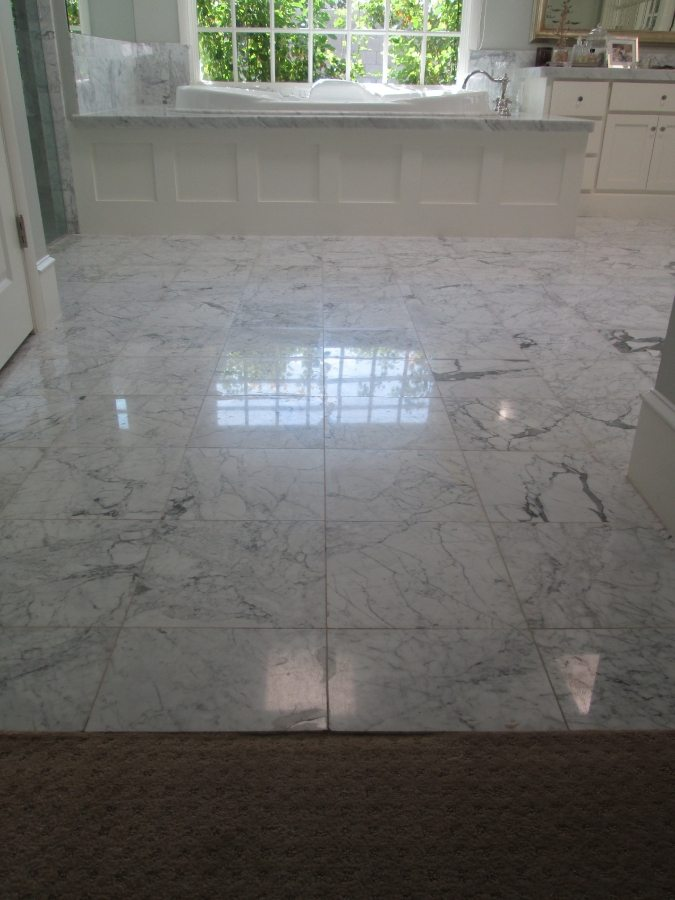 Before: Marble master bath | Marble | Interiors | Photo Gallery | Baker's Travertine Power Clean