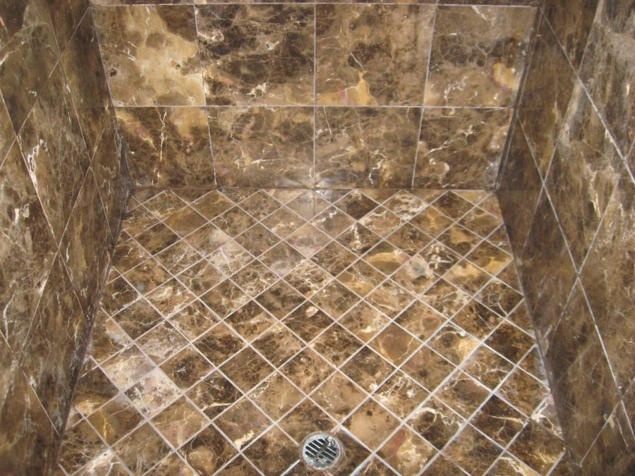 After: Marble shower | Marble | Interiors | Photo Gallery | Baker's Travertine Power Clean