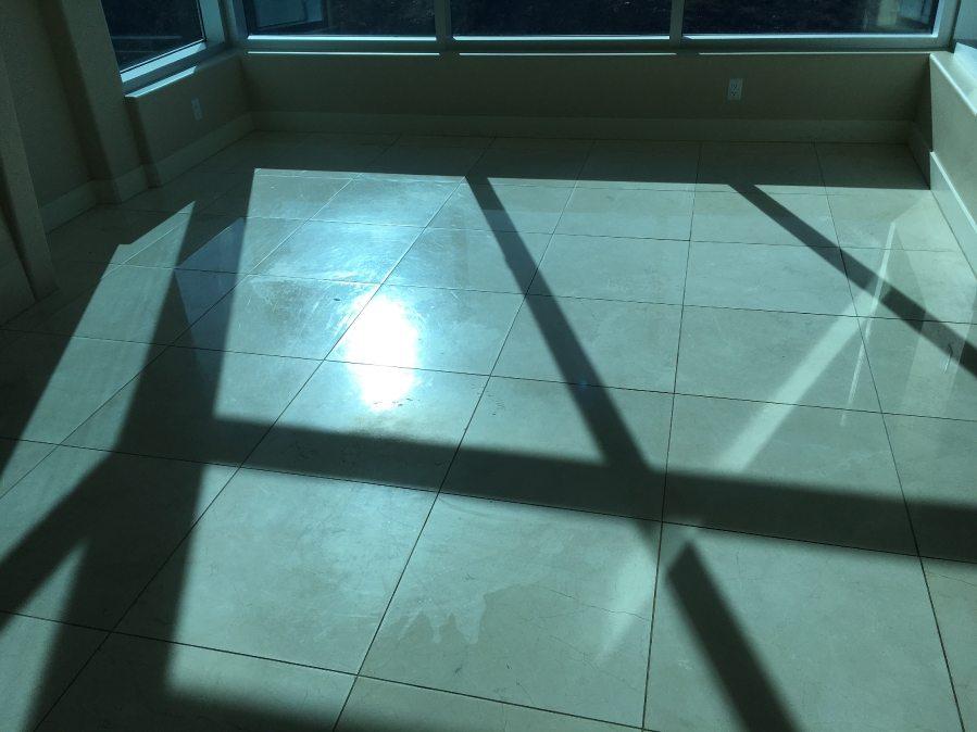 Before: Marble floor | Marble | Interiors | Photo Gallery | Baker's Travertine Power Clean