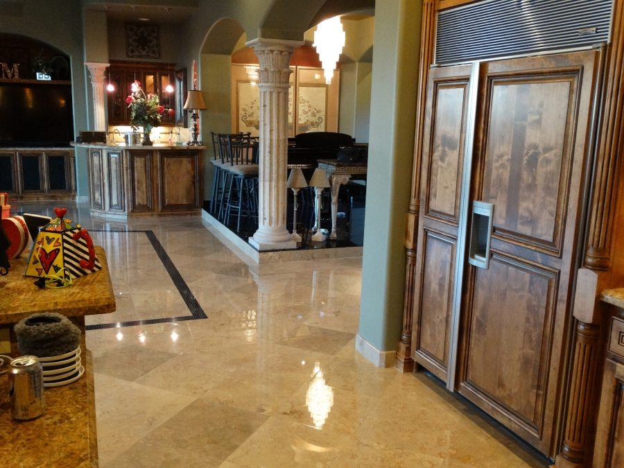 Marble flooring High Polish | Marble | Interiors | Photo Gallery | Baker's Travertine Power Clean