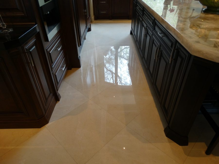 Marble kitchen area High Polish | Marble | Interiors | Photo Gallery | Baker's Travertine Power Clean