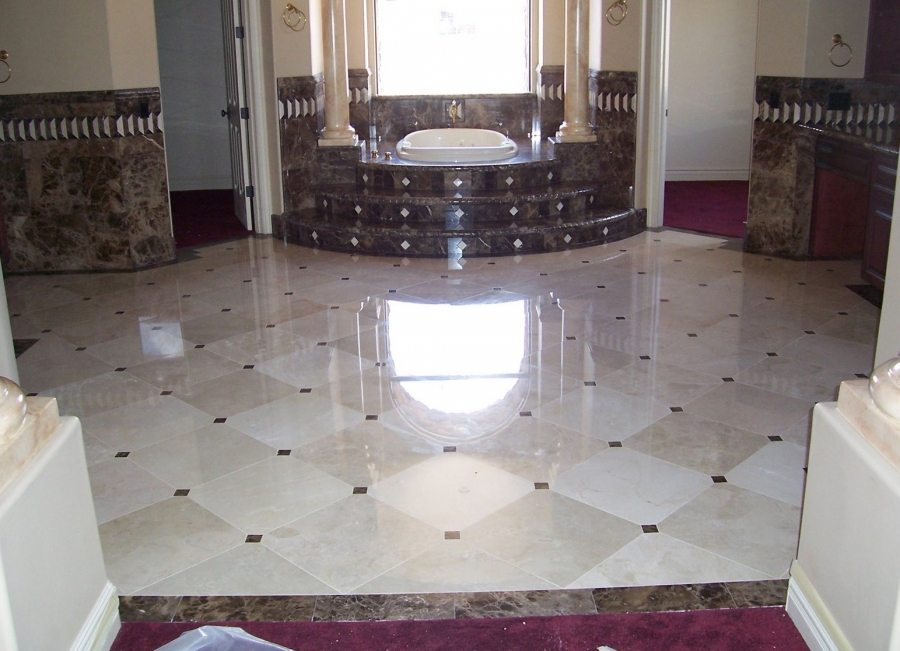 Marble master bath entry | Marble | Interiors | Photo Gallery | Baker's Travertine Power Clean