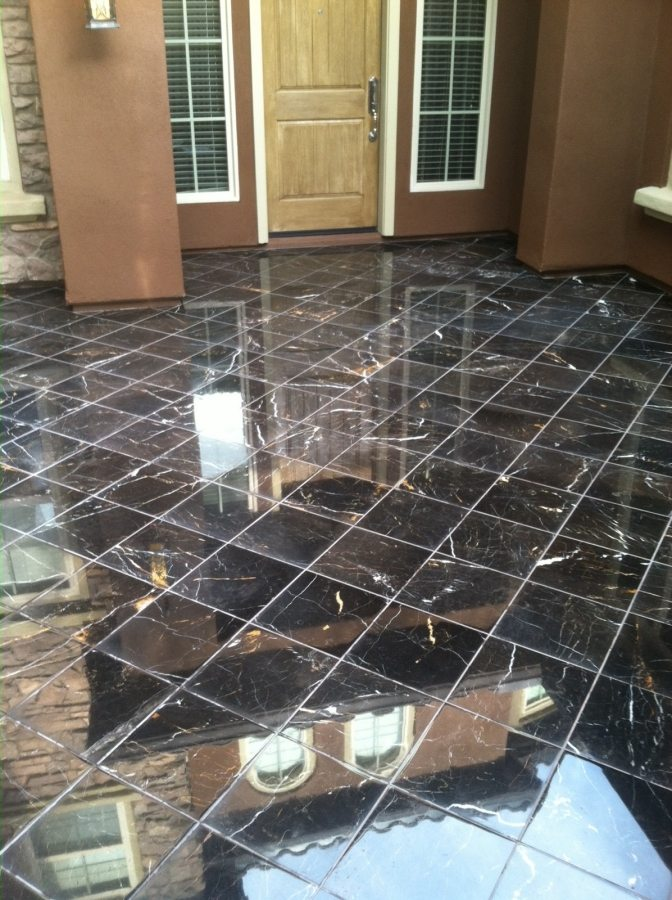 Marble patio courtyard | Marble | Interiors | Photo Gallery | Baker's Travertine Power Clean