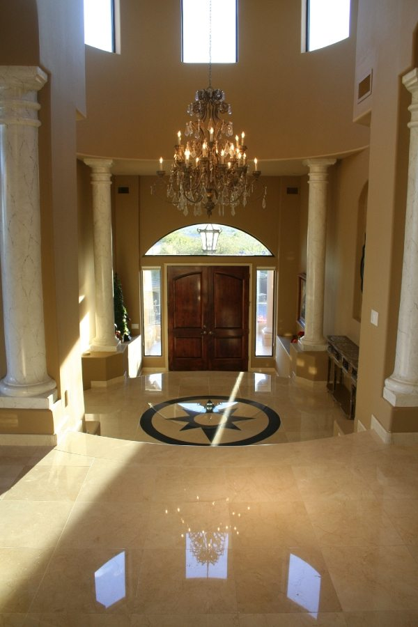 Marble Entry | Marble | Interiors | Photo Gallery | Baker's Travertine Power Clean