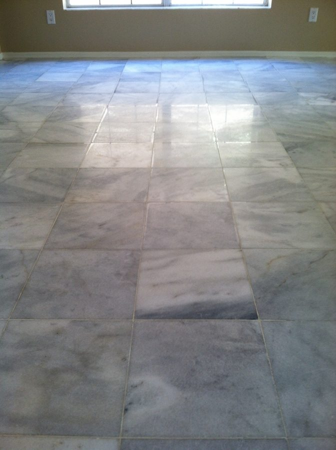 Before: Marble tile | Marble | Interiors | Photo Gallery | Baker's Travertine Power Clean