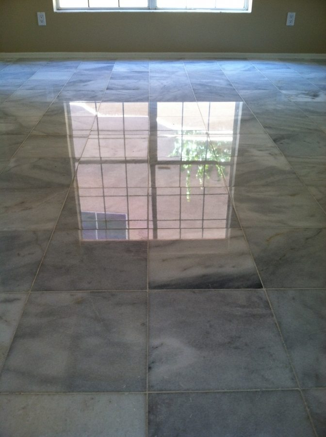After: Marble High Polish | Marble | Interiors | Photo Gallery | Baker's Travertine Power Clean
