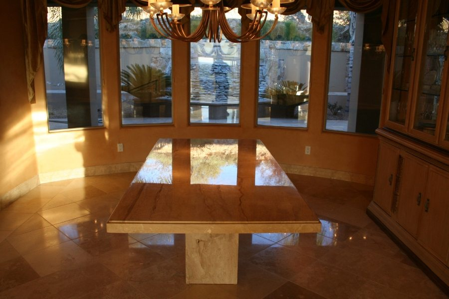 Marble table top in Las Sendas, Mesa | Showers & Vanities | Interior Gallery | Baker's Travertine Power Clean