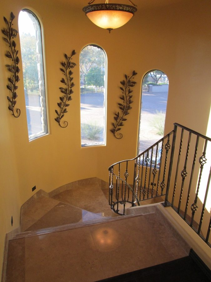 Before: Travertine stairs | Staircases & Steps | Interior Photo Galleries | Baker's Travertine Power Clean