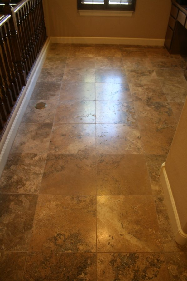 Before: Travertine in Ahwatukee Foothills