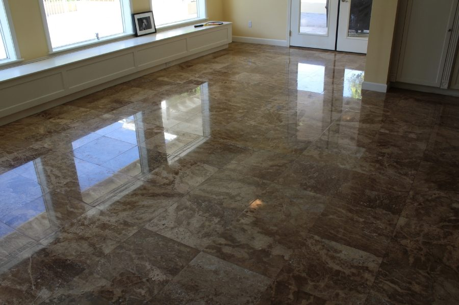 After: Travertine High Polish in Phoenix Biltmore