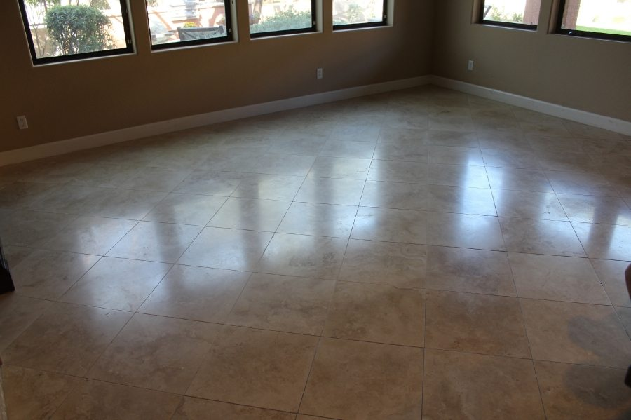 Before: Travertine in Arcadia Area Home