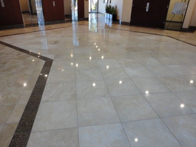 After: Travertine in Phoenix Commercial Lobby