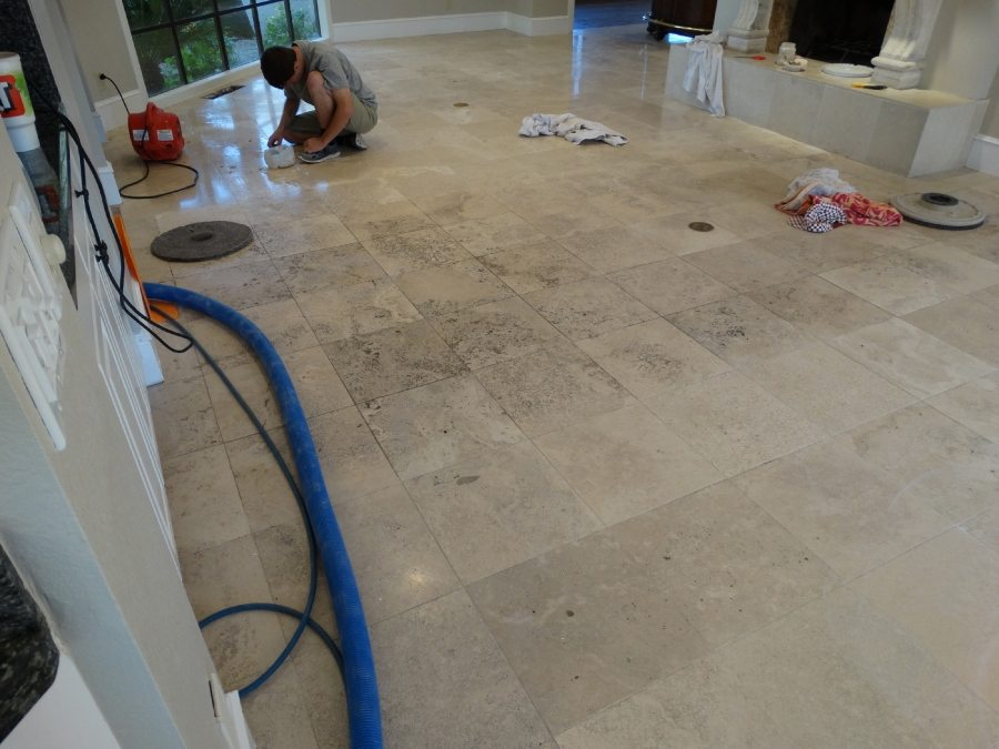Before: Travertine Light Polish in Scottsdale